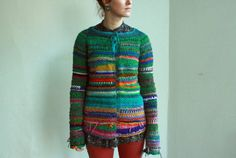 Handmade multi-colorful and bright sweater by TASSSHA on Etsy