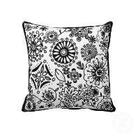 Pretty doodle pillow