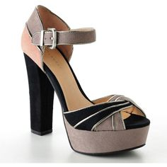 """LC Lauren Conrad Platform Dress Sandals - so adorbs but WAY to high. When I tried them on I was taller than Mark- who is 6'1"""". Frustrating."""