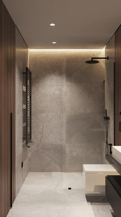 Pagorby / Lviv on Behance Washroom Design, Bathroom Design Luxury, Modern Bathroom, Small Bathroom, Bathroom Design Inspiration, Beach Bathrooms, Bathroom Layout, My New Room, Interior Architecture