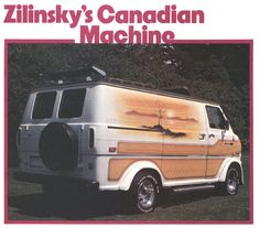 1970s custom van mural