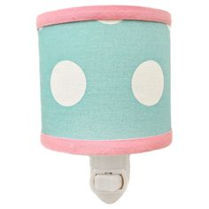 With an adorable polka-dot design and bright colors, this nightlight is the perfect addition to your child's room. With a soft light, this My Baby Sam nightlight is a great way to comfort your little one while she sleeps.