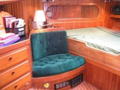 Truck Interior, Interior Ideas, Sailboat Restoration, Liveaboard Boats, Sailboat Interior, Wood Boats, Hans Christian, Boat Design, Vintage Trailers