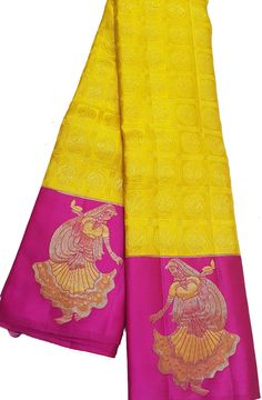 Yellow Saree Silk, Gold Silk Saree, Bridal Silk Saree, Green Saree, Saree Wedding, Kanjivaram Sarees Silk, Indian Silk Sarees, Pure Silk Sarees, Online Saree Purchase
