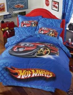 Amazon.com: Hot Wheels Dragster Comforter Bedding Set Full 8 Pcs: Home & Kitchen