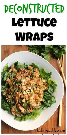 Deconstructed Lettuce Wraps Paleo Recipes Easy, Cooking Recipes, Simple Recipes, Copycat Recipes, Yummy Recipes, Diet Recipes, Clean Eating, Healthy Eating, Healthy Dishes