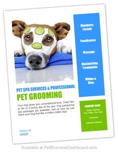 Printable pdf pet grooming gift certificates display poster pet grooming flyers or posters template httppetbusinessdashboard solutioingenieria Images