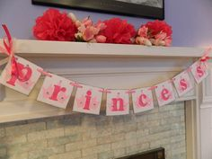 PRINCESS Party Garland Princess Birthday by anyoccasionbanners, $21.00