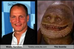 Woody Harrelson totally looks like this Goomba