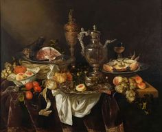 "Abraham van Beyeren, ""Banquet Still Life"", after 1655"