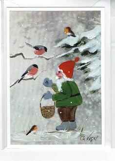 Grüße - Grußkarte - Vogelfütterung - ein Designerstück von Vogelmalerin bei DaWanda