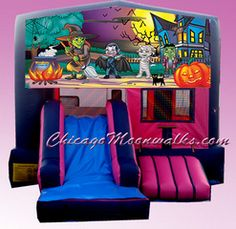 What's more Ghoulish than a pink Halloween bounce house?