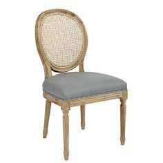 Louis Cane Back Dining Chair   Set Of Dialed Down The Formality Of This  Traditional Round Back Chair With A Distressed Finish And Cheerful Colored  Seat From ...