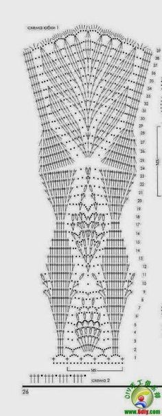 Schemi gratuiti di uncinetto.Abiti su misura Схемы для вязания крючком. платья крючком продам