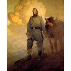 N.C. Wyeth confederate soldier