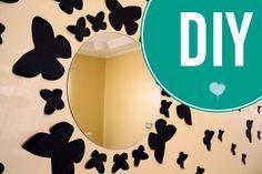 DIY: Decorando a parede com Espelho de Borboletas. Butterfly Mirror