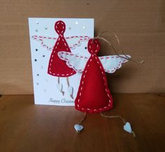 Christmas Fairy Card & Hanging Decoration by HandmadeByHoppy on Etsy