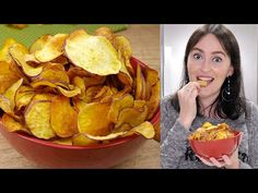 CHIPS DE BATATA DOCE NA AIRFRYER CROCANTE E SAUDÁVEL APENAS 3 INGREDIENTES | Cook'n Enjoy #584 - YouTube Low Carb Recipes, Snack Recipes, Cooking Recipes, Banana Chips, Air Fryer Recipes, Fries, Food And Drink, Menu, Air Flyer