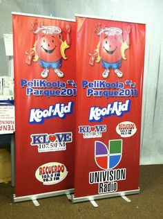 RETRACTABLE BANNER STAND order online   www.ldpprint.com  1-800-418-8157 #Events #Koolaid #Print #Marketing #Banner