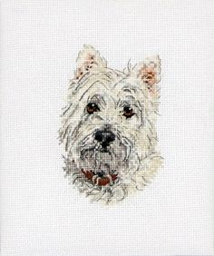 Cross Stitch Craze: Puppy Dog Cross Stitch White Westie