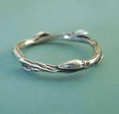 Willow Zweig Ring aus Sterlingsilber von esdesigns auf Etsy