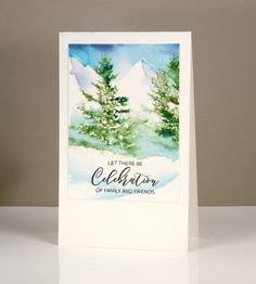 Heather Telford for Penny Black with a winter celebration card; Nov 2016 #heathertelford #pennyblack #wintercard