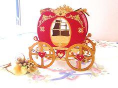 Wooden carriage centerpiece box original wood cookie by GattyGatty, $85.00