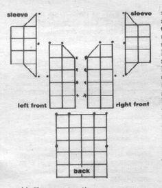 SHAWL COLLAR JACKET granny square coat - SIZES: Misses sizes small (medium-extra large). Garment measurement around underarms 40 (42-44-48)