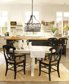 cottage dining room lights | Check out this Farmhouse style Dining Room