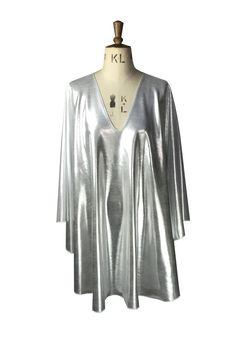 Baylis & Knight Silver plunge studio 54 dress