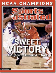 buy The 2003 College Basketball Championship, Carmelo Anthony of The Orangemen Sports Illustrated cover reprints Syracuse Basketball, Basketball Jersey, Basketball Teams, College Basketball, Basketball Court, Sports Teams, Sports Magazine Covers, Syracuse Orangemen, Si Cover