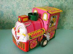 Vintage Tin Litho Easter Train Locomotive by SongbirdSalvation