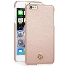 Women's Tory Burch 'Robinson' Iphone 6 Plus & 6S Plus Case ($70) ❤ liked on Polyvore featuring accessories, tech accessories, rose gold, tory burch tech accessories and tory burch