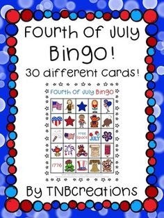 Fourth of July Bingo is the perfect activity to celebrate the holiday! Great for a summer school activity and a fun way to discuss vocabulary! Summer School Activities, Holiday Activities, Bingo Pictures, Kids Word Search, Holiday Crafts For Kids, Holiday Ideas, July Quotes, Holidays And Events, Happy Holidays