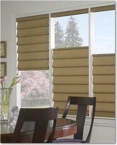 Hunter Douglas Window Fashions traditional roman blinds