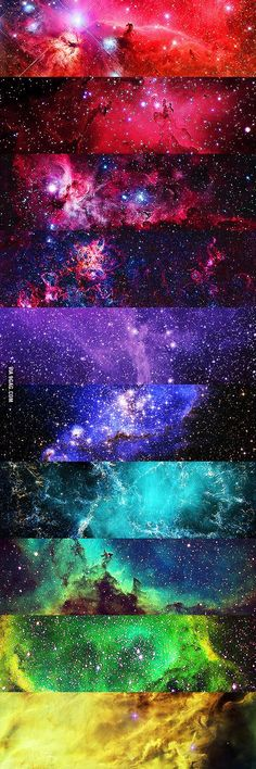 All the colors of the universe....if I could live anywhere..it would probably be in space.