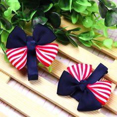Flag Bow Hair Clips