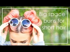 Big space buns for short hair   MinnaCelina - YouTube