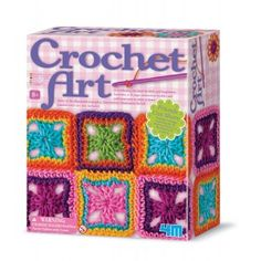 Crochet Art is an easy craft to learn, with this kit, the hardest part is choosing which project to make. This kit comes with a plastic crochet needle and thread to make one of three projects: coaster, bag or a scarf. Craft Kits, Diy Kits, Craft Supplies, Crochet Art, Crochet Hooks, Crochet Ideas, Crochet Pattern, Fun Hobbies, Arts And Crafts Projects