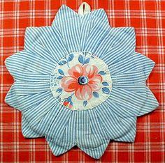 vintage patchwork hotpad.