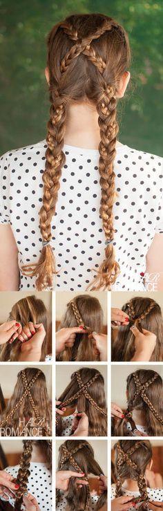 Hair Romance - Back to school hair - tutorial acconciatura trecce incrociate . - Hair Romance - Back to school hair - tutorial acconciatura trecce incrociate schule, Acconciature Back to school - Tutorial trecce incrociate - Hair Romance - Pigtail Hairstyles, Braided Hairstyles Tutorials, Diy Hairstyles, Hair Tutorials, Kids Hairstyle, Latest Hairstyles, Wedding Hairstyles, Natural Hairstyles, Sporty Hairstyles