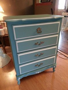 The Vintage Texan French provincial dresser done in Provence Annie Sloans