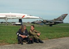 Barbara Harmer Concorde Pilot and Jo Salter the first British woman fighter pilot.