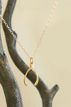 Darleen Meier Jewelry Wishbone Necklace, $22, available at Etsy.
