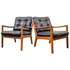 Ole Wanscher Senator Teak Chairs, Set of Two   1stdibs.com
