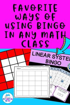 Looking for ways to use bingo in math class? Students love it, it's a great review game and easy to implement. Plus it gives students great practice in a fun way. Check out the blog post and pick up some ideas.