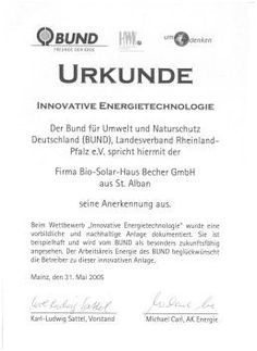 2005: BUND Innovative Energietechnologie