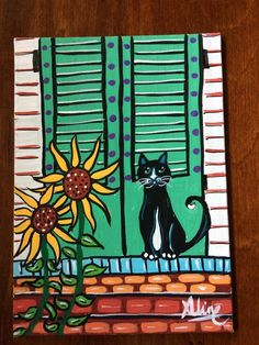 Cat folk Art- Porch cat series-New Orleans original painting -Aline Cross art Original Art, Original Paintings, Cross Art, Simple Acrylic Paintings, Art Curriculum, Cat Wall, Local Artists, Painted Rocks, New Art