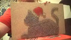 Christmas Cat- string art