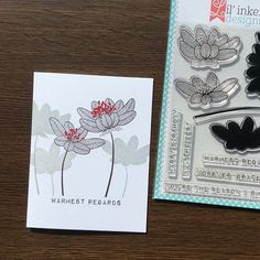 """Imitate - """"background"""" solid stamp from a two or three step set of flowers  Lil' Inker Designs"""